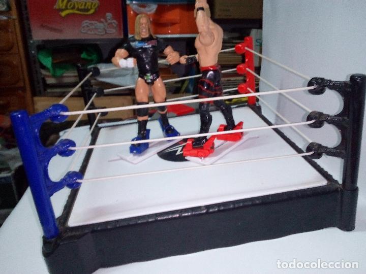 Figuras y Muñecos Pressing Catch: -RING WWE RAW SMACKDOWN PRESSINNG CATCH-C0N MOVIMIENTO-CON LANZADOR Y DOS FIGURAS MATTEL 2014 - Foto 3 - 143650394