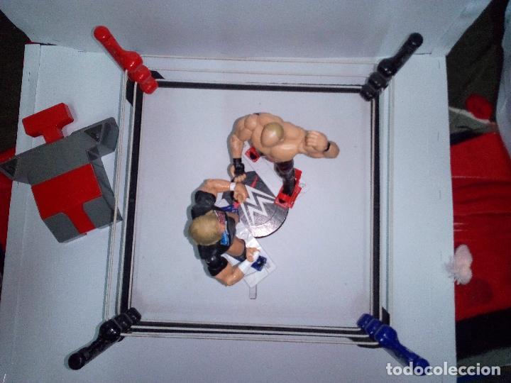 Figuras y Muñecos Pressing Catch: -RING WWE RAW SMACKDOWN PRESSINNG CATCH-C0N MOVIMIENTO-CON LANZADOR Y DOS FIGURAS MATTEL 2014 - Foto 4 - 143650394
