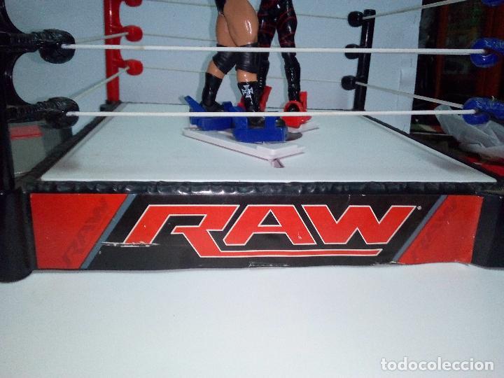 Figuras y Muñecos Pressing Catch: -RING WWE RAW SMACKDOWN PRESSINNG CATCH-C0N MOVIMIENTO-CON LANZADOR Y DOS FIGURAS MATTEL 2014 - Foto 5 - 143650394