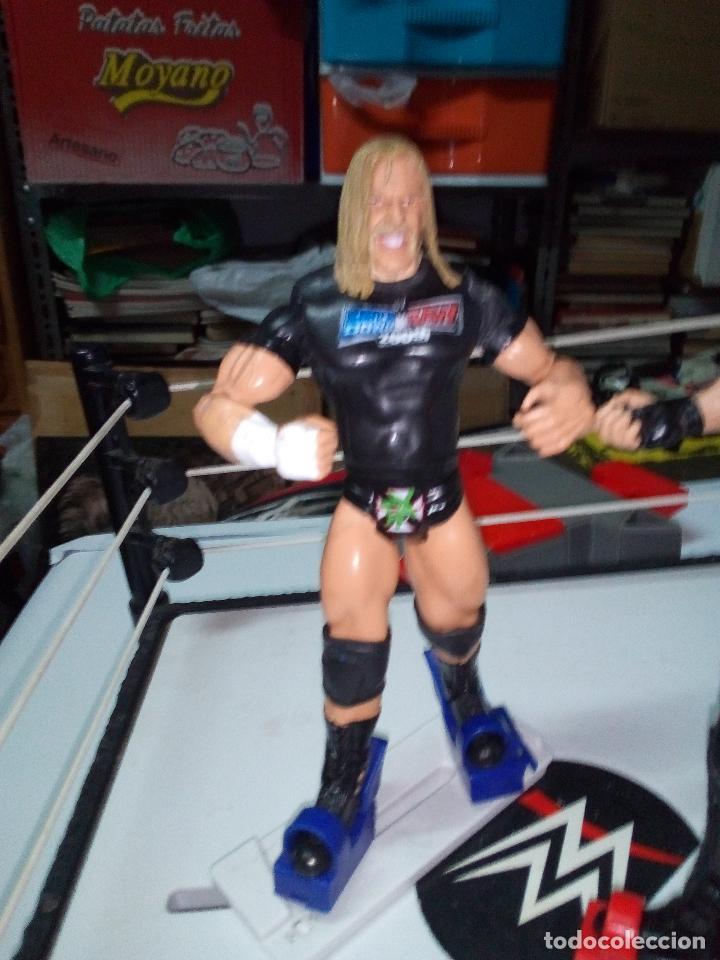 Figuras y Muñecos Pressing Catch: -RING WWE RAW SMACKDOWN PRESSINNG CATCH-C0N MOVIMIENTO-CON LANZADOR Y DOS FIGURAS MATTEL 2014 - Foto 17 - 143650394