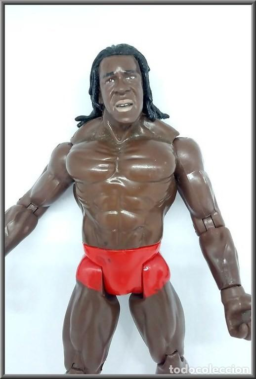Figuras y Muñecos Pressing Catch: JAKKS PACIFIC 1999 WRESTLING PRESSING CATCH WWE WWF BOOKER T - Foto 2 - 137210242