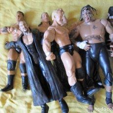 Figuras y Muñecos Pressing Catch: LOTE 7 MUÑECOS PRESSING CATCH WWE. Lote 141917854