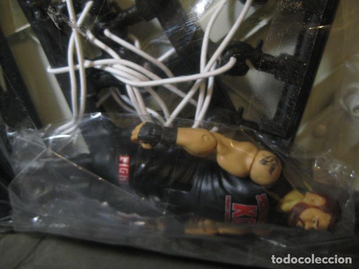Figuras y Muñecos Pressing Catch: RING CUADRILATERO EN SU BOLSA, CON FIGURA PRECINTADA ESQUINAS ALGO ROZADAS - Foto 9 - 150228466