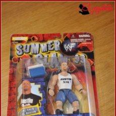 Figuras y Muñecos Pressing Catch: PRESSING CATCH WRESTLING WWF WWE - JAKKS PACIFIC 1999 SUMMER SLAM - STEVE AUSTIN STONE COLD. Lote 155638722
