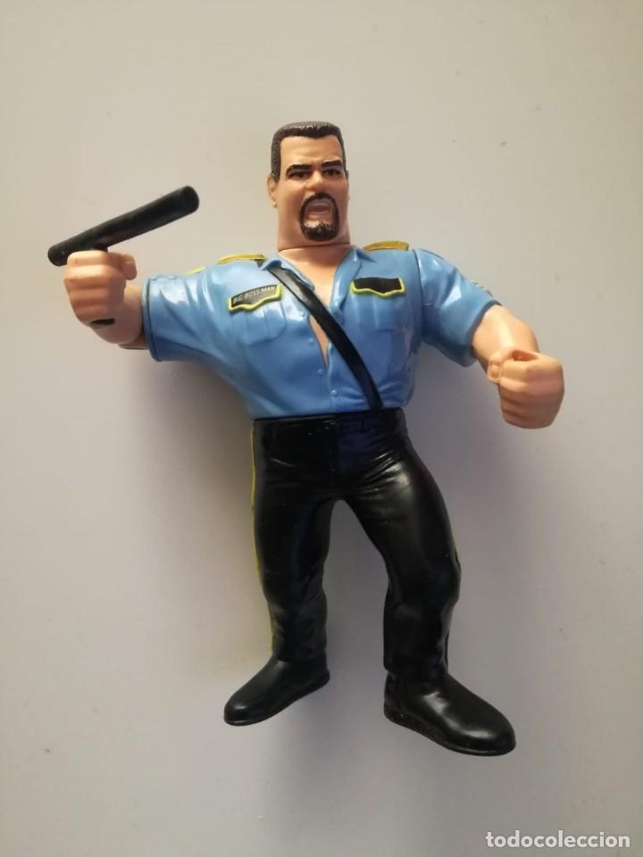 Big Boss Man 3 Poli Loco Wwf Pressing Catch Hasbro
