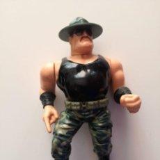 Figuras y Muñecos Pressing Catch: SARGENTO SLAUGHTER WWF PRESSING CATCH HASBRO WWE. Lote 156745254