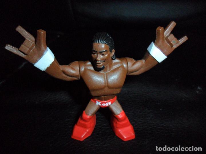 KOFI KINGSTON - FIGURA WWE RUMBLERS DE MATTEL - (Juguetes - Figuras de Acción - Pressing Catch)