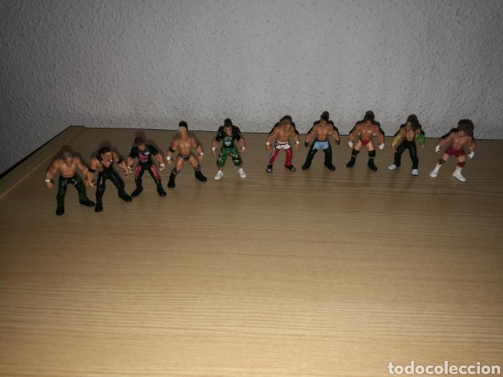 COLECCIÓN DE 10 MINI FIGURAS DE PRESSING CATCH. LUCHA LIBRE. MIDEN 5 CENTÍMETROS. JARKS. WWE. 2006 (Juguetes - Figuras de Acción - Pressing Catch)