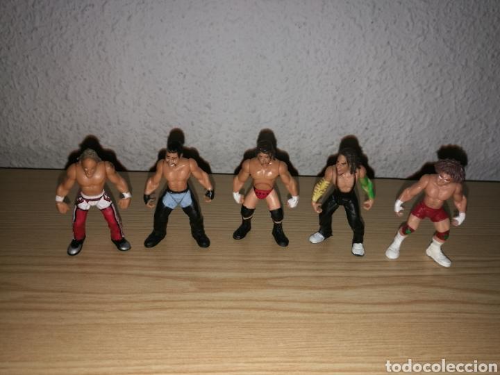 Figuras y Muñecos Pressing Catch: Colección de 10 mini figuras de Pressing Catch. Lucha libre. Miden 5 centímetros. Jarks. WWE. 2006 - Foto 3 - 159871996