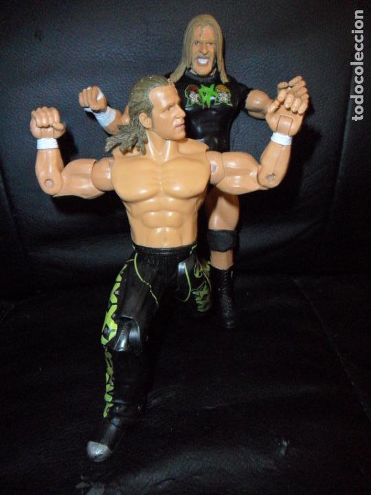 DX TRIPLE H & SHAWN MICHAELS - TAG TEAM - PRESSING CATCH - WWE WWF - JAKKS (Juguetes - Figuras de Acción - Pressing Catch)