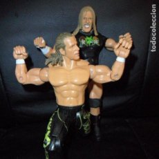 Figuras y Muñecos Pressing Catch: DX TRIPLE H & SHAWN MICHAELS - TAG TEAM - PRESSING CATCH - WWE WWF - JAKKS. Lote 215354160