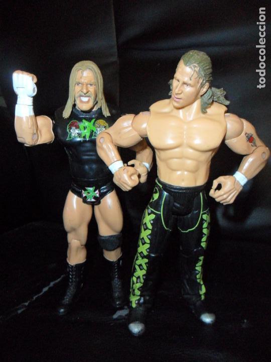 Figuras y Muñecos Pressing Catch: DX TRIPLE H & SHAWN MICHAELS - TAG TEAM - PRESSING CATCH - WWE WWF - JAKKS - Foto 2 - 215354160