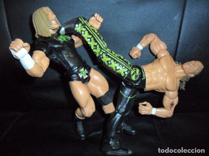 Figuras y Muñecos Pressing Catch: DX TRIPLE H & SHAWN MICHAELS - TAG TEAM - PRESSING CATCH - WWE WWF - JAKKS - Foto 3 - 215354160