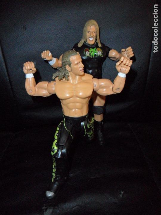 Figuras y Muñecos Pressing Catch: DX TRIPLE H & SHAWN MICHAELS - TAG TEAM - PRESSING CATCH - WWE WWF - JAKKS - Foto 4 - 215354160