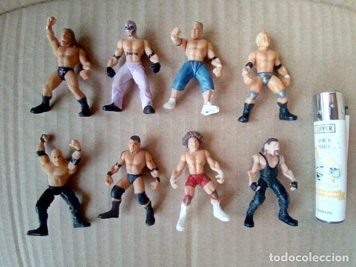 LOTE DE 8 MINI FIGURA WWE 2006 (Juguetes - Figuras de Acción - Pressing Catch)