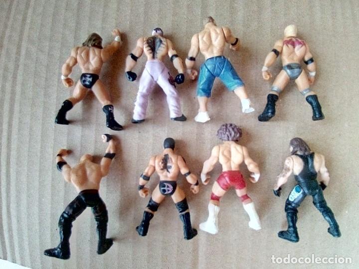 Figuras y Muñecos Pressing Catch: LOTE DE 8 MINI FIGURA WWE 2006 - Foto 2 - 176127285