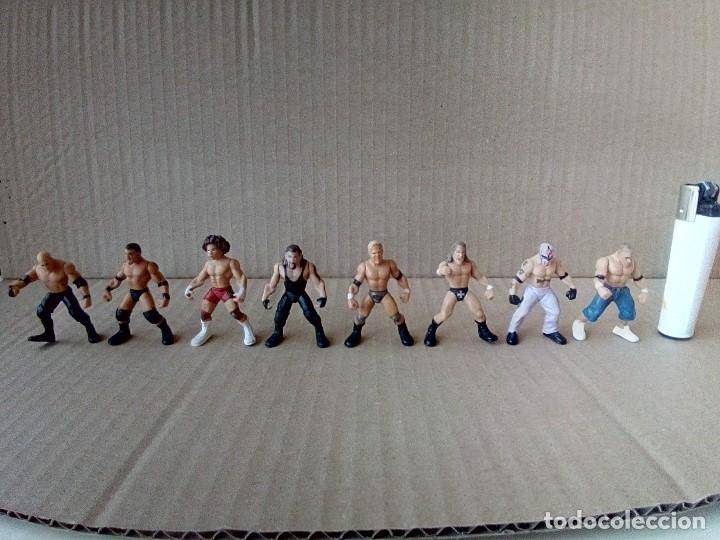 Figuras y Muñecos Pressing Catch: LOTE DE 8 MINI FIGURA WWE 2006 - Foto 3 - 176127285