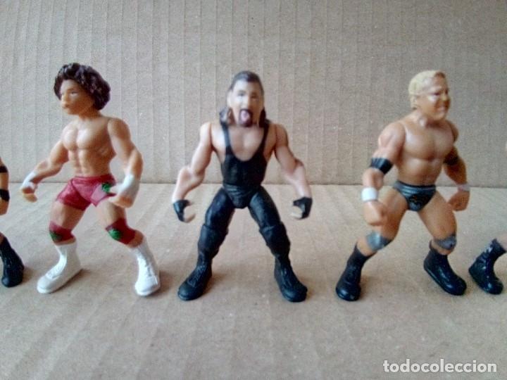 Figuras y Muñecos Pressing Catch: LOTE DE 8 MINI FIGURA WWE 2006 - Foto 7 - 176127285