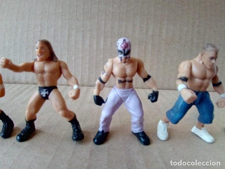 Figuras y Muñecos Pressing Catch: LOTE DE 8 MINI FIGURA WWE 2006 - Foto 10 - 176127285