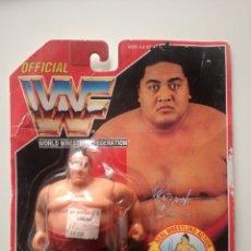 Figuras y Muñecos Pressing Catch: BLISTER YOKOZUNA WWF HASBRO WWF PRESSING CATCH WWE. Lote 180428332
