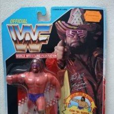 Figuras y Muñecos Pressing Catch: BLISTER MACHO MAN WWF HASBRO PRESSING CATCH WWE. Lote 183216173