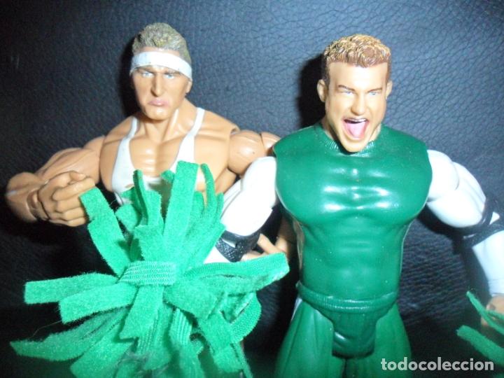 THE SPIRIT SQUAD, KENNY & NICKY (DOLPH ZIGGLER) - TAG TEAM - PRESSING CATCH - WWE WWF - JAKKS (Juguetes - Figuras de Acción - Pressing Catch)