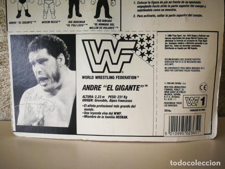 Figuras y Muñecos Pressing Catch: ANDRE EL GIGANTE WWF VINTAGE EN BLISTER ORIGINAL - Foto 6 - 184105557