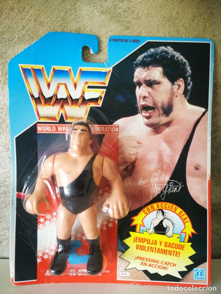 ANDRE EL GIGANTE WWF VINTAGE EN BLISTER ORIGINAL (Juguetes - Figuras de Acción - Pressing Catch)
