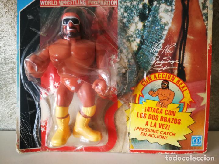 Figuras y Muñecos Pressing Catch: RANDY SAVAGE MACHO MAN WWF VINTAGE EN BLISTER ORIGINAL - Foto 3 - 184106017