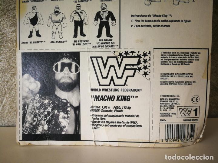 Figuras y Muñecos Pressing Catch: RANDY SAVAGE MACHO MAN WWF VINTAGE EN BLISTER ORIGINAL - Foto 6 - 184106017