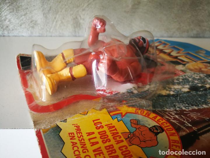 Figuras y Muñecos Pressing Catch: RANDY SAVAGE MACHO MAN WWF VINTAGE EN BLISTER ORIGINAL - Foto 7 - 184106017