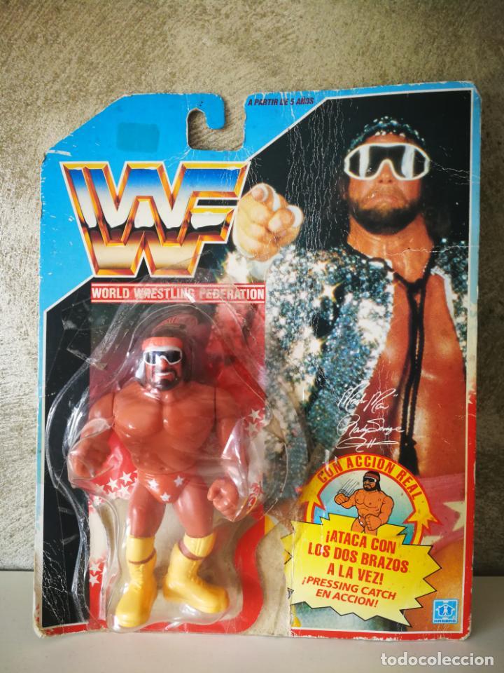RANDY SAVAGE MACHO MAN WWF VINTAGE EN BLISTER ORIGINAL (Juguetes - Figuras de Acción - Pressing Catch)
