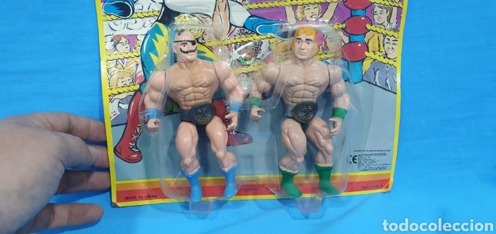 Figuras y Muñecos Pressing Catch: Blíster con dos figuras luchadores bootleg . Wrestler - Foto 2 - 189681963