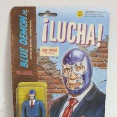 Figuras y Muñecos Pressing Catch: LEGENDS LUCHA LIBRE. REACTION. 10 CMS. BLUE DEMON JR. IN SUIT. Lote 197947818