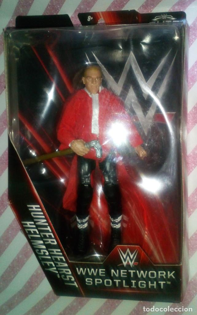 FIGURA WWE (PRESSING CATCH) HUNTER HEARST HELMSLEY (TRIPLE H) - MATTEL - 2015, EN CAJA (Juguetes - Figuras de Acción - Pressing Catch)