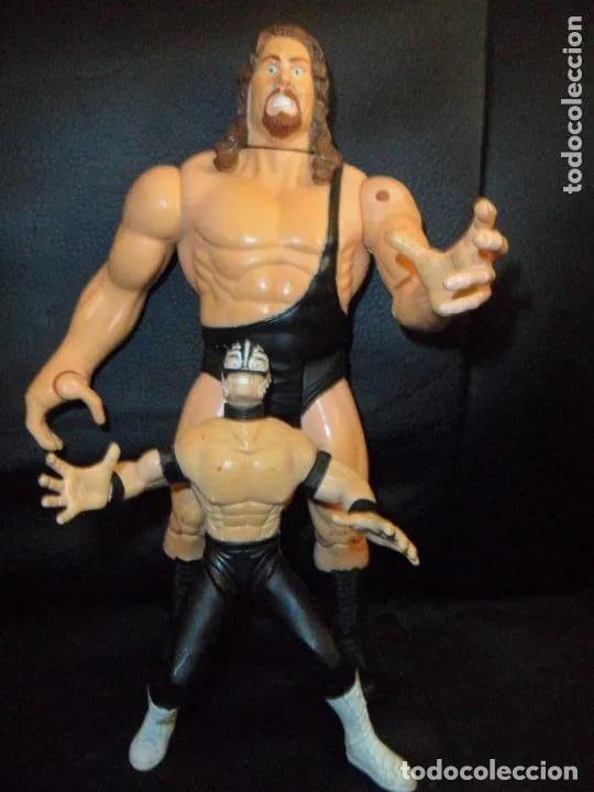 THE GIANT (BIG SHOW) & REY MYSTERIO - PRESSING CATCH - WCW 1999 TOY BIZ - (Juguetes - Figuras de Acción - Pressing Catch)