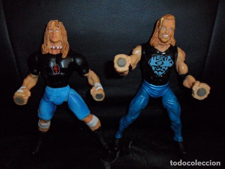RAVEN VS. DDP - PRESSING CATCH - WCW - 1999 TOY BIZ - ACCION IMANES (Juguetes - Figuras de Acción - Pressing Catch)