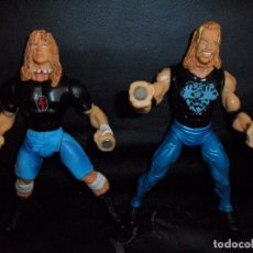 Figuras y Muñecos Pressing Catch: RAVEN VS. DDP - PRESSING CATCH - WCW - 1999 TOY BIZ - ACCION IMANES. Lote 201769616