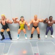 Figuras y Muñecos Pressing Catch: LOTE 4 LUCHADORES PRESSING CATCH WCW GALOOB VINTAGE AÑOS 90. Lote 206261347