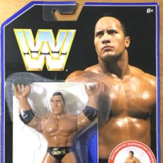 Figuras y Muñecos Pressing Catch: THE ROCK - AUTHENTIC SUPERSTAR MOVES - WWF RETRO SERIES AÑO 2017. Lote 206468036