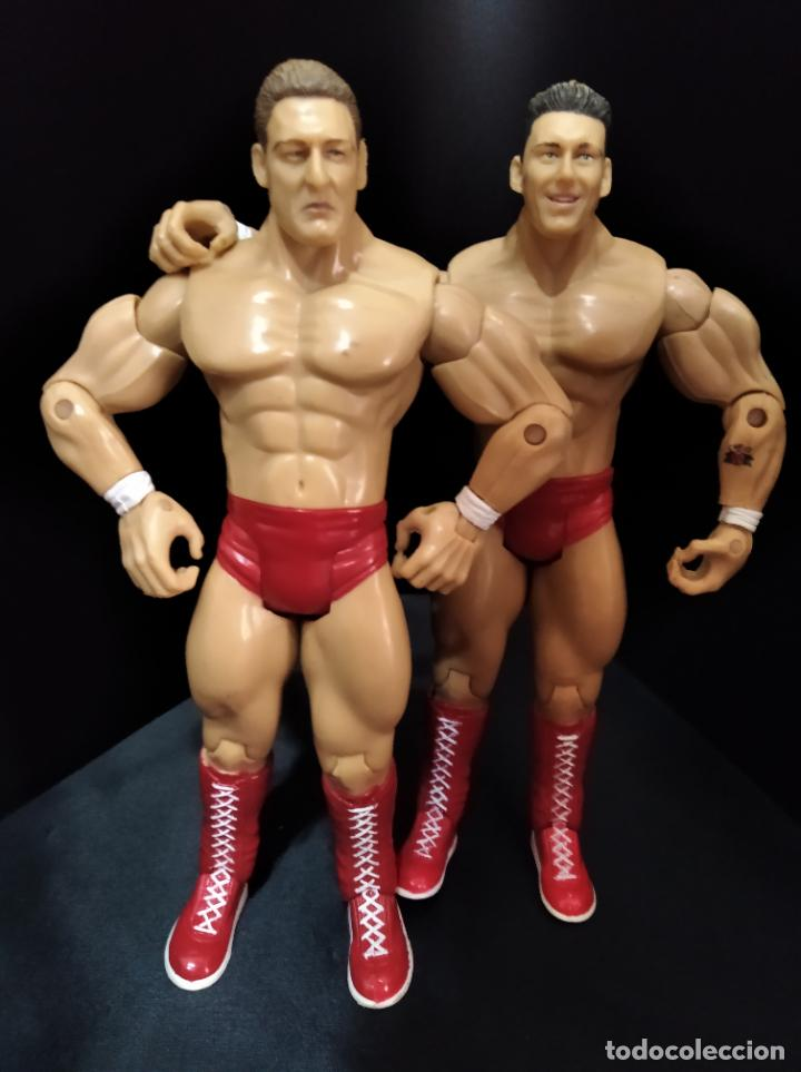 Figuras y Muñecos Pressing Catch: REGAL & SYLVAIN - TAG TEAM- PRESSING CATCH - WWE WWF - JAKKS - Foto 3 - 209126205