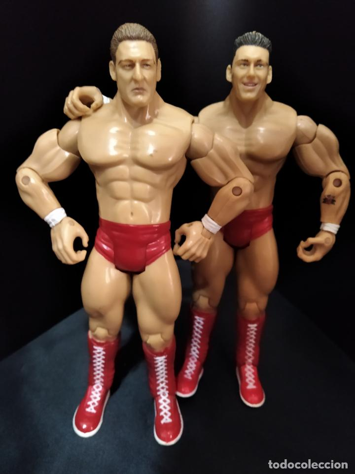 REGAL & SYLVAIN - TAG TEAM- PRESSING CATCH - WWE WWF - JAKKS (Juguetes - Figuras de Acción - Pressing Catch)