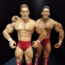 Figuras y Muñecos Pressing Catch: REGAL & SYLVAIN - TAG TEAM- PRESSING CATCH - WWE WWF - JAKKS. Lote 209126205