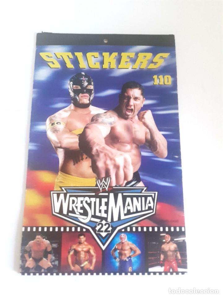 PEGATINAS WWE PRESSING CATCH STICKERS. (Juguetes - Figuras de Acción - Pressing Catch)
