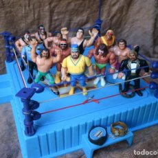 Figure e Bambolotti Pressing Catch: RING + 12 LUCHADORES WWF PRESSING CATCH LUCHA LIBRE. Lote 209948410