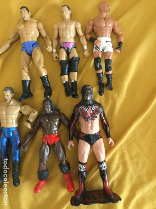 Figuras y Muñecos Pressing Catch: Lote de ocho luchadores de pressing Catch - Foto 3 - 211690205