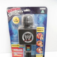 Figuras y Muñecos Pressing Catch: MICROFONO PRESSING CATCH - WWE WRESTLING - VOCES DE REY MYSTERIO, JOHN CENA Y UNDETAKER - NUEVO. Lote 219186398