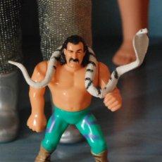 Figuras y Muñecos Pressing Catch: FIGURA WWF JAKE SNAKE ROBERTS EL SERPIENTE TITAN SPORTS 1990. Lote 56466722