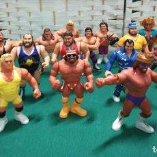 Figuras y Muñecos Pressing Catch: FIGURAS PRESSING CATCH - WWE (1990-1991) INCLUYE RING Y UN JUEGO DE LA WWE. Lote 224607041