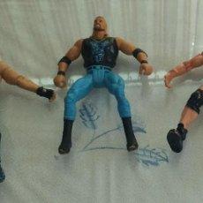 Figuras y Muñecos Pressing Catch: LOTE 3 FIGURAS DE LUCHA WWE TOY BIZZ. Lote 227609060